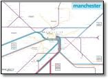 GMPTE Manchester rail / train map