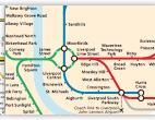 Merseyrail train / rail network map