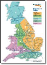 UK train map Network Rail Regions and Routes map