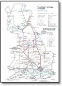 Great Britain passenger rail network map