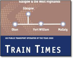 Scotrail West Highland line timetable cover map