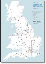 Great Britain train rail franchise map TOCs