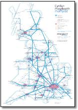 UK train map Welsh Cymru