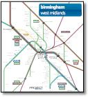 West Midlands Birmingham train / rail network map