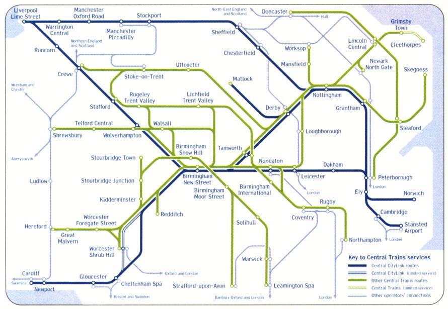 Central Trains  Rail Maps