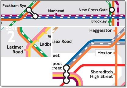 London tube train rail map