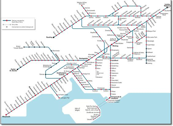 south west trains route map pdf